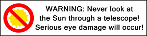 Never Look at the Sun!